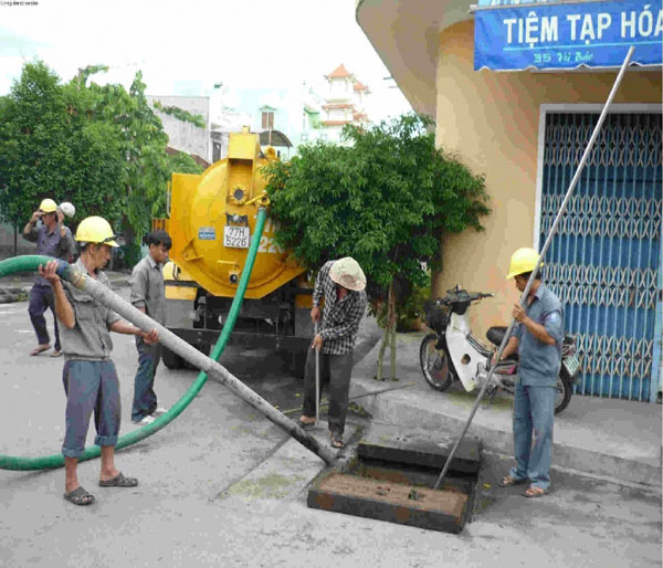Thông hút bể phốt tại Lương Đình Của