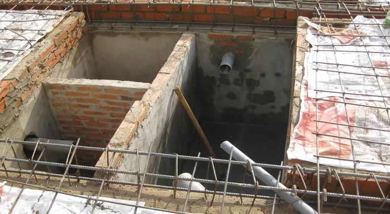 Đối với bể tự hoại 3 ngăn xây bằng gạch
