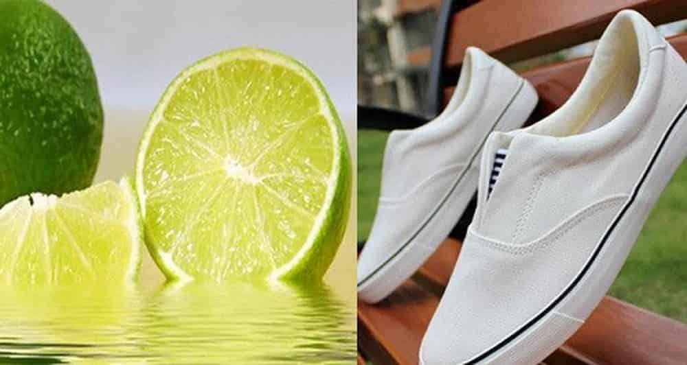 Cách Giặt Giày Thể Thao bằng chanh tươi