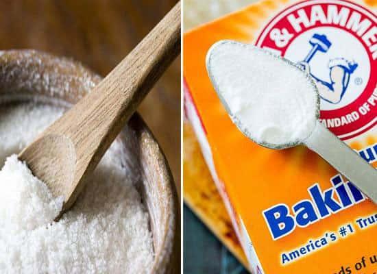 Khử mùi hôi bằng muối trắng hoặc muối nở (baking soda)