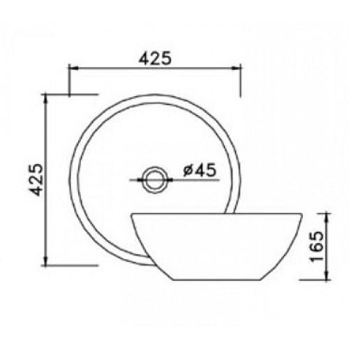 kích thước lavabo tròn