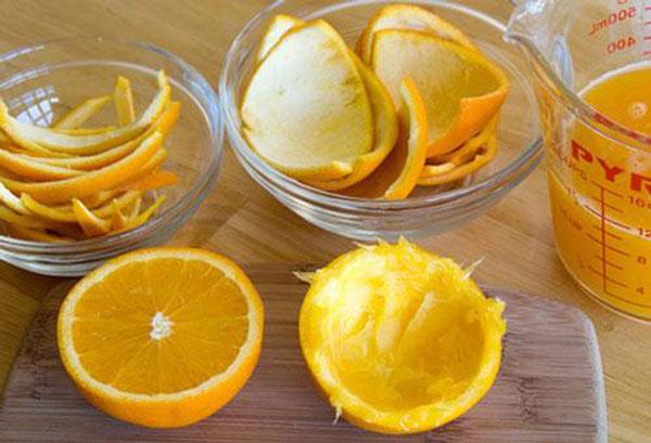 Khử mùi hôi trong phòng bằng vỏ cam, chanh