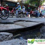 Thực trạng về tắc nghẽn hố ga tại Hà Nội