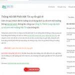 Hình ảnh website của công ty vệ sinh Việt Tín