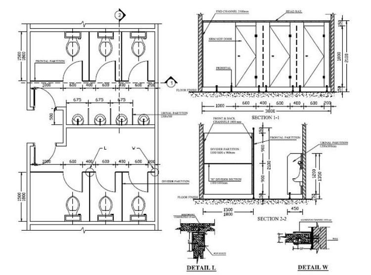 Bản thiết kế nhà vệ sinh cho công nhân