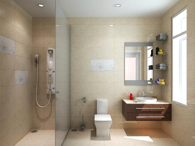 Bố trí vật dụng nội thất bên trong nhà vệ sinh