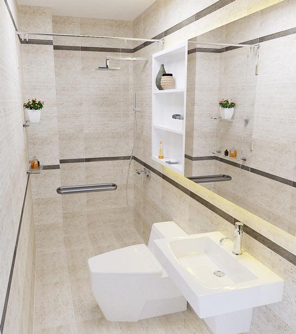 Nhà vệ sinh trong nhà ống