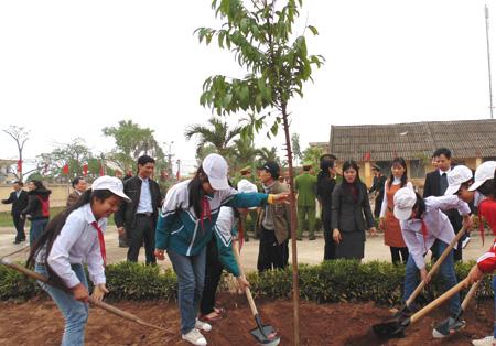 Tích cực trồng thêm nhiều cây xanh