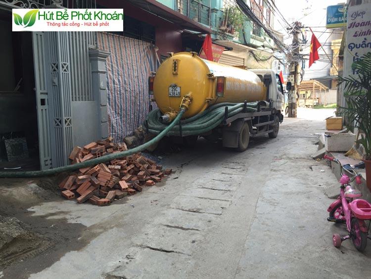 Hút bể phốt tại huyện Ứng Hòa