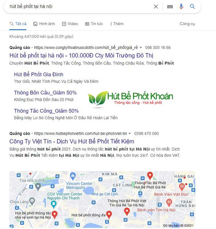 Những trang Web chạy quảng cáo Google Ad